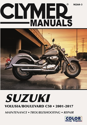 Suzuki Volusia & Boulevard C50 from 2001-2017 Clymer Repair Manual