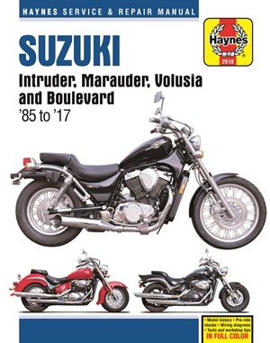 Suzuki Intruder, Marauder, Volusia & Boulevard, 1985-2017 Haynes Repair Manual