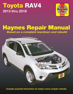 Toyota Rav4 2013 thru 2018 Haynes Repair Manual