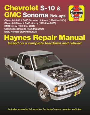 Chevrolet S-10 & GMC Sonoma Pick-ups Haynes Repair Manual