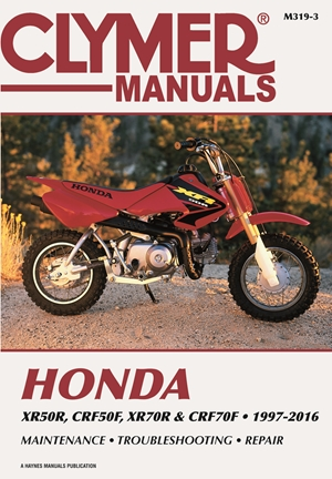 Honda XR50R, CRF50F, XR70R and CRF70F, 2000-2016 Clymer Repair Manual