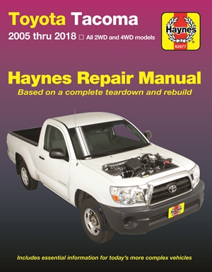 Toyota Tacoma, 2006-2018 Haynes Repair Manual