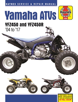 Yamaha YFZ450/450R ATV, 2004-2017 Haynes Repair Manual