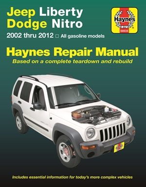 Jeep Liberty & Dodge Nitro from 2002-2012 Haynes Repair Manual