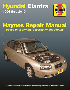 Hyundai Elantra 1996 thru 2019 Haynes Repair Manual