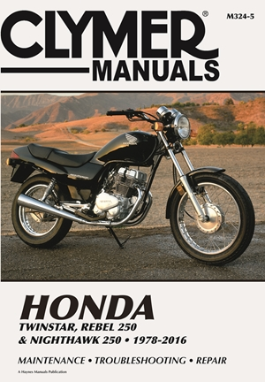 Honda Twinstar, Rebel 250 & Nighthawk 250, 1978-2016 Clymer Manual