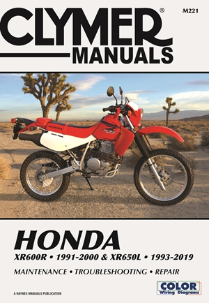 Honda XR600R - 1991-2000 & XR650L - 1993-2019 Clymer Manual