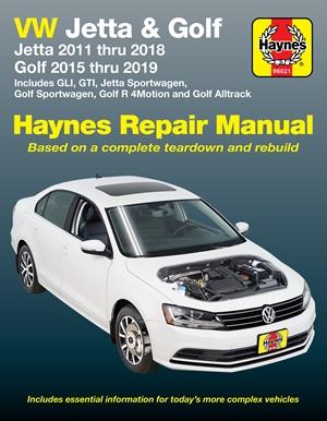 VW Jetta and Golf 2011 thru 2018 Haynes Repair Manual