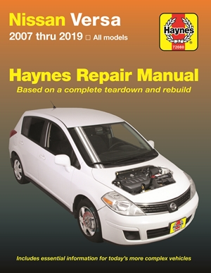 Nissan Versa 2007 thru 2019 Haynes Repair Manual