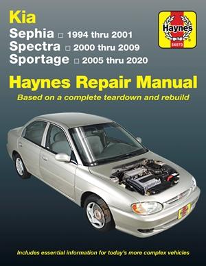 Kia Sephia (1994-2001) Spectra (2000-2009) Sportage (2005-2020)