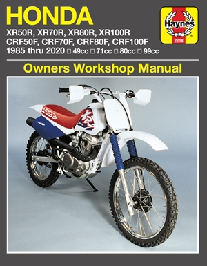 Honda XR50/70/80/100R & CRF50/70/80/100F, '85-'20 Haynes Repair Manual
