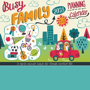 Busy Family Calendar 2018