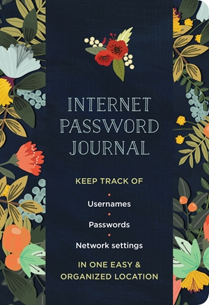 Internet Password Logbook Modern Floral