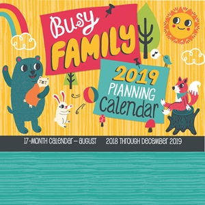 Busy Family Planning Calendar 2019