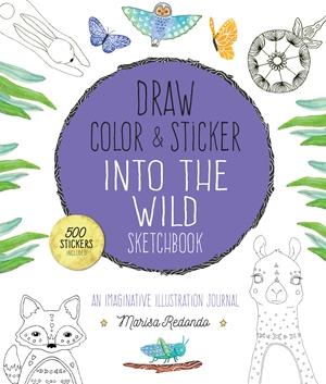 Draw, Color, and Sticker Into the Wild Sketchbook