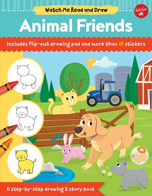 Watch Me Read and Draw: Animal Friends