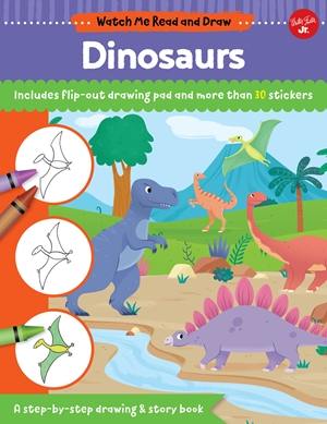 Watch Me Read and Draw: Dinosaurs