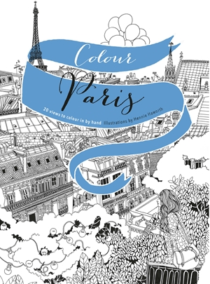 Colour Paris 20 views to colour in by hand