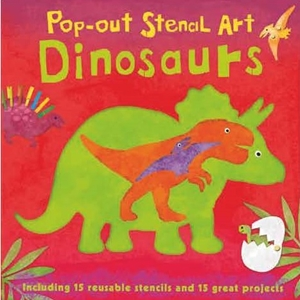 Pop-out Stencil Art: Dinosaurs
