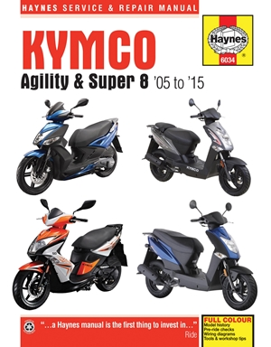 Kymco Agility & Super 8 Scooters, '05-'15