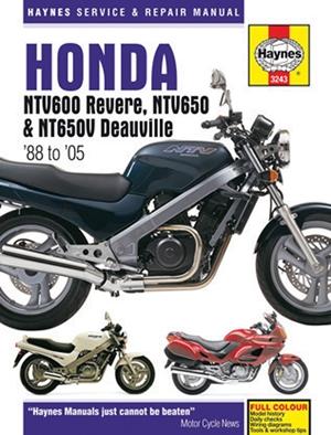 Honda NTV600 Revere, NTV650 & NTV650V Deauville '88 to '05