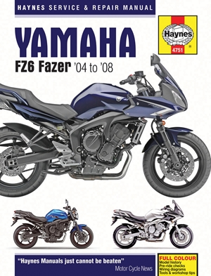 Yamaha FZ6 Fazer '04 to '08