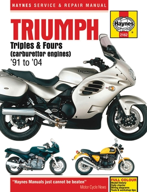 Triumph Triples & Fours (carburettor engines) '91 to '04
