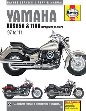 Yamaha XVS650 & 1100 (Drag Star, V-Star) '97 to '11