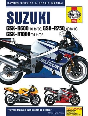 Suzuki GSX-R600 '01 to '03, GSX-R750 '00 to '03 & GSX-R1000 '01 to '02