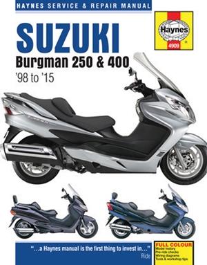 Suzuki Burgman 250 & 400 '98 to '15