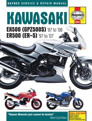Kawasaki EX500 (GPZ500S) '87 to '08 ER500 (ER-5) '97 to '07
