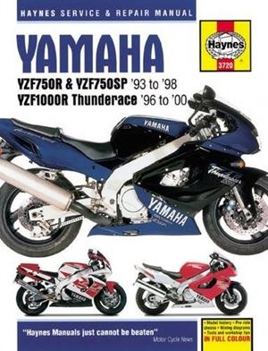 Yamaha YZF750R, YZF750SP & YZF1000R, '93-'00