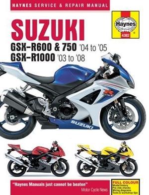 Suzuki GSX-R600, 750 & 1000, '03-'06
