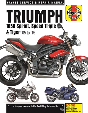 Triumph Sprint, Speed Triple and Tiger, 2005-2015 Haynes Repair Manual