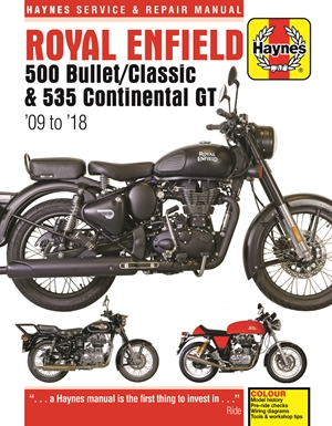 Royal Enfield 500 Bullet / Classic & 535 Continental GT Haynes Service & Repair Manual