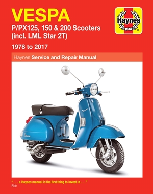 Vespa P/PX125, 150 & 200 Scooters Service & Repair Manual