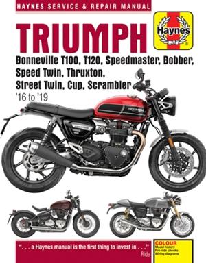 Triumph Bonneville T100, T120, Speedmaster, Bobber, Speed Twin, Thruxton, Street Twin, Cup & Scrambler 900 & 1200, '16-'19