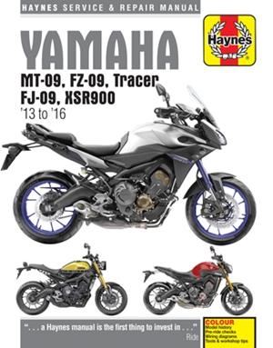 Yamaha MT-09, FZ-09, Tracer, FJ-09, XSR900 Haynes Service & Repair Manual