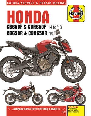 Honda CB650F & CBR650F '14 to '18 and CB650R & CBR650R '19