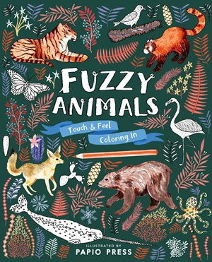 Fuzzy Animals Touch and Feel Coloring In