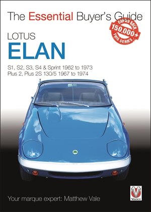 Lotus Elan S1 to Sprint and Plus 2 to Plus 2S 130/5 1962 to 1974