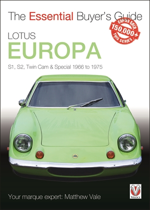 Lotus Europa S1, S2, Twin Cam & Special 1966 to 1975