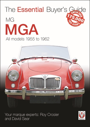 MG MGA All models 1955 to 1962