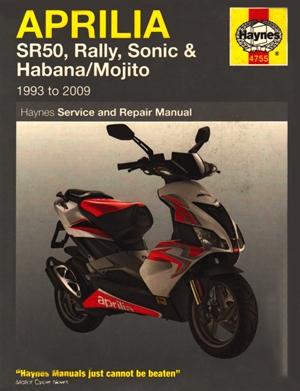 Aprilia SR50, Rally, Sonic, Habana & Mojito Scooters, '93-'09
