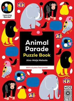 Animal Parade Puzzle Book - With a 6 piece floor puzzle!