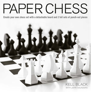 Paper Chess Create Your Own Chess Set with a Detachable Board and 2 Full Sets of Punch-out Pieces