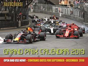 Autocourse 2019 Grand Prix Calendar