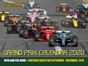 Autocourse 2020 Grand Prix Calendar