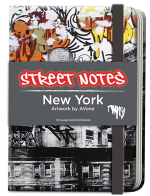 Street Notes-New York Artwork by AVone (Large Hardcover Journal)