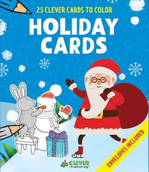 Holiday Cards 25 Clever Cards to Color + Envelopes Included